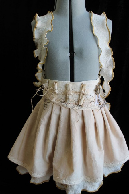 Antique-style Skirt with Faux Suspenders