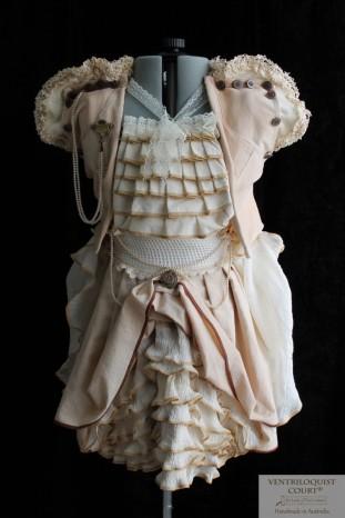 Custom Steampunk Woodland Bustle Skirt & Organic Cotton Vest
