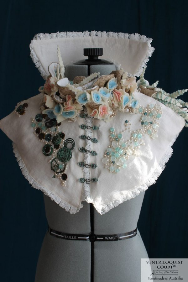 Victorian-style High-neck Collar Capelet, High-fashion Textile Art Costume