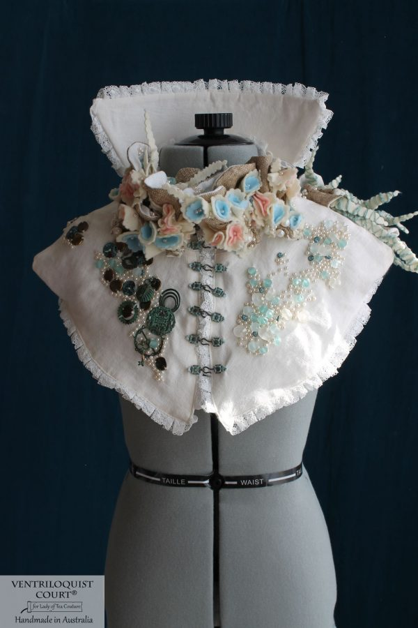 Detailed High-fashion Textile Art Capelet using Eco-friendly Materials