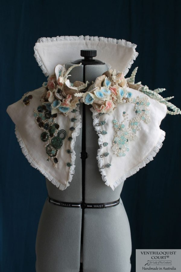 Intricate Handmade Eco Victorian-style Collar Capelet