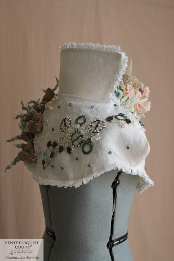 Eco Steampunk Costume with Handsewn Wild Silk Textile Art