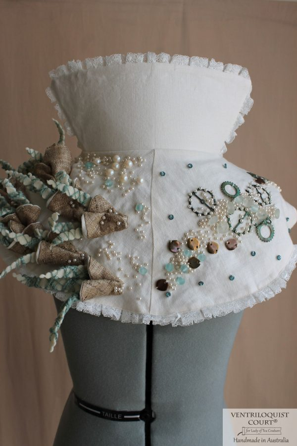 Eco Steampunk Style Costume with Handsewn Wild Silk Textile Art