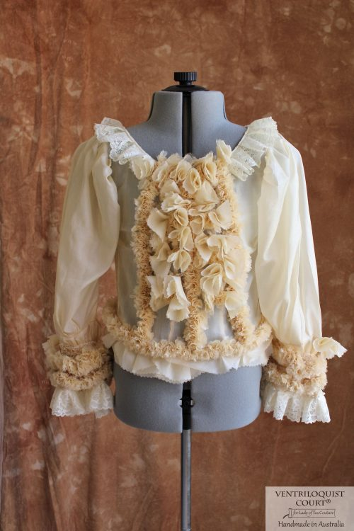 Detailed ruffles Victorian-inspired lace blouse