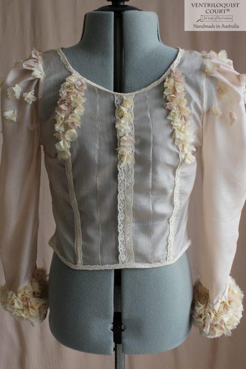 Sheer Blush Wedding Blouse Tailor-Made