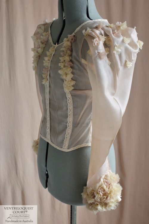 Peace Silk & Lace Long-Sleeved Blouse Inspired by Victorian Costumes