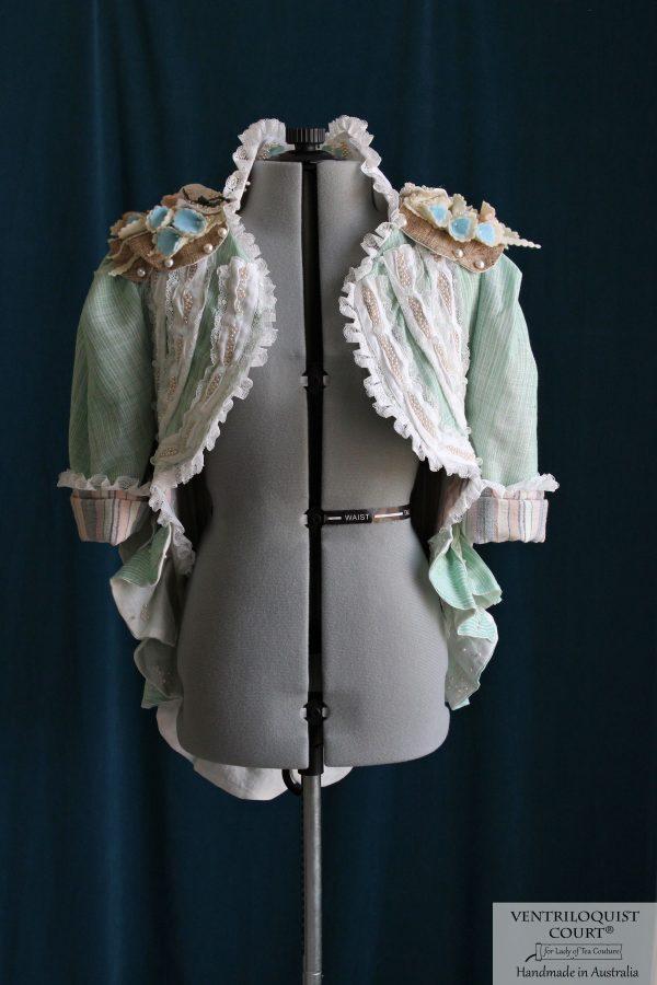 Shipwreck Style Handwoven Cotton, Wild Silk, Linen, & Lace Jacket