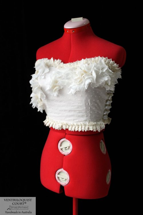 Custom Cream Cotton Bustier - Weddings by the Sea, Lake, & Gardens