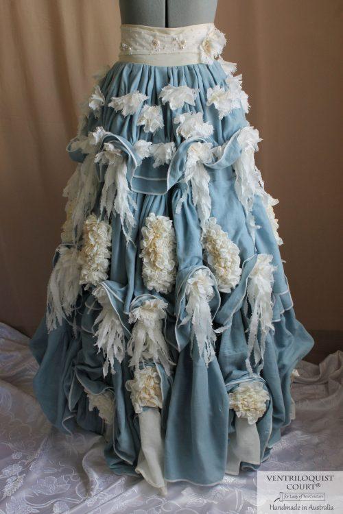 Victorian-Inspired 3 Tier Muslin Petticoat Skirt