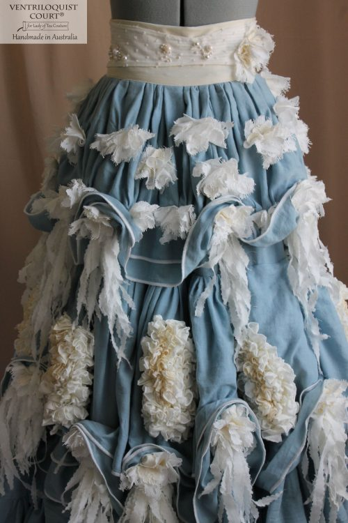 Shabby Cottage Floral Seaside Cottage Wedding Skirt