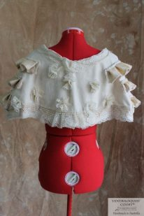 Shipwreck floral buds capelet custom-made in Australia