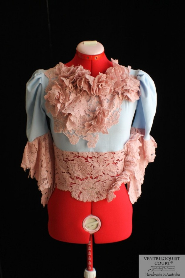 Victorian-Inspired Lace Blouse with Puffy Sleeves
