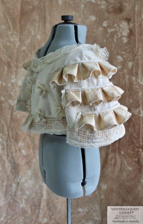 Romantic Vintage Velvet & Eco Handwoven Silk Ruffles