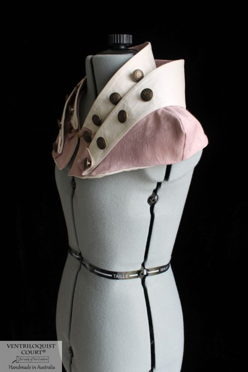 Cotton Damask Sci Fi Collar, Dusty Pink, Cream, or Aloe Green