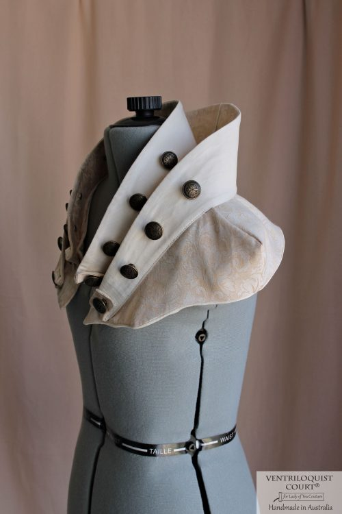 Cotton Damask Avant-Garde Steampunk Collar - Made in Australia