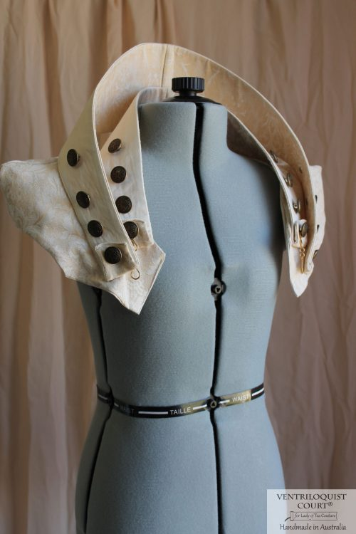 Steampunk Collar Capelet - Available in Creamy Gold, Dusty Pink, or Green