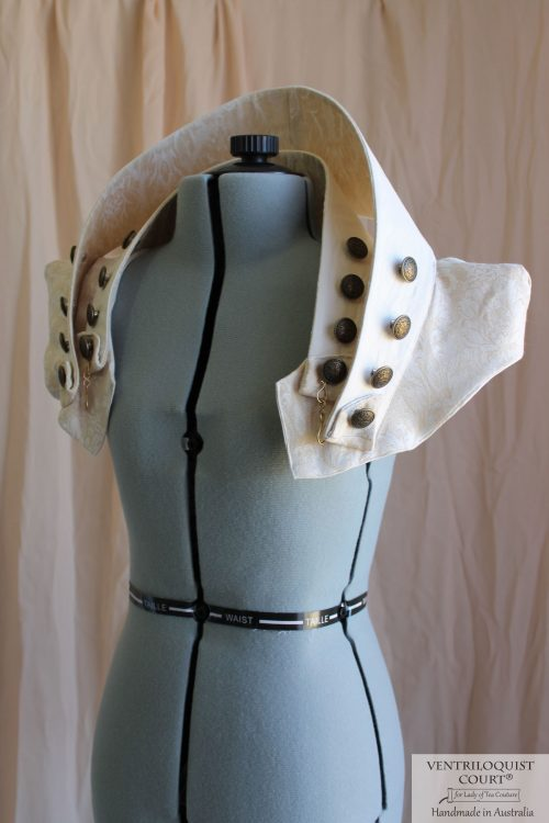 Alternative Fashion Brass Buttons Collar Capelet Made in Australia