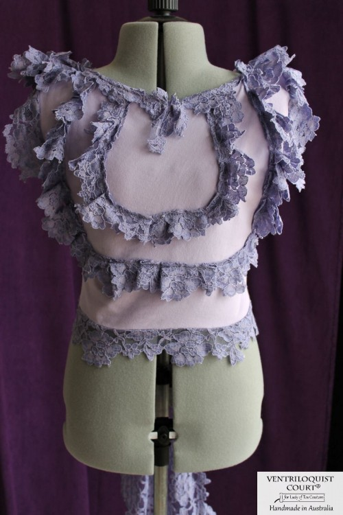 Tattered Sleeveless Lace Top, Various Colours
