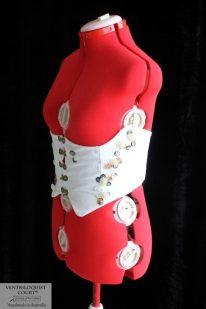 Side 'Sea Treasures' White Cotton Velveteen Corset