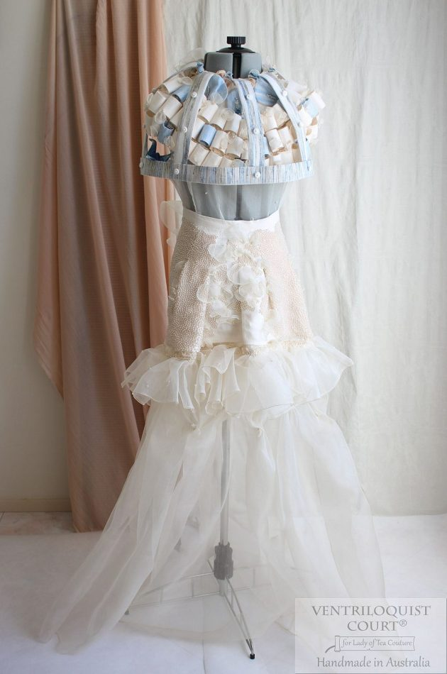 Romantic Linen & Peace Silk Wedding Dress Handmade in Australia by VENTRILOQUIST COURT®