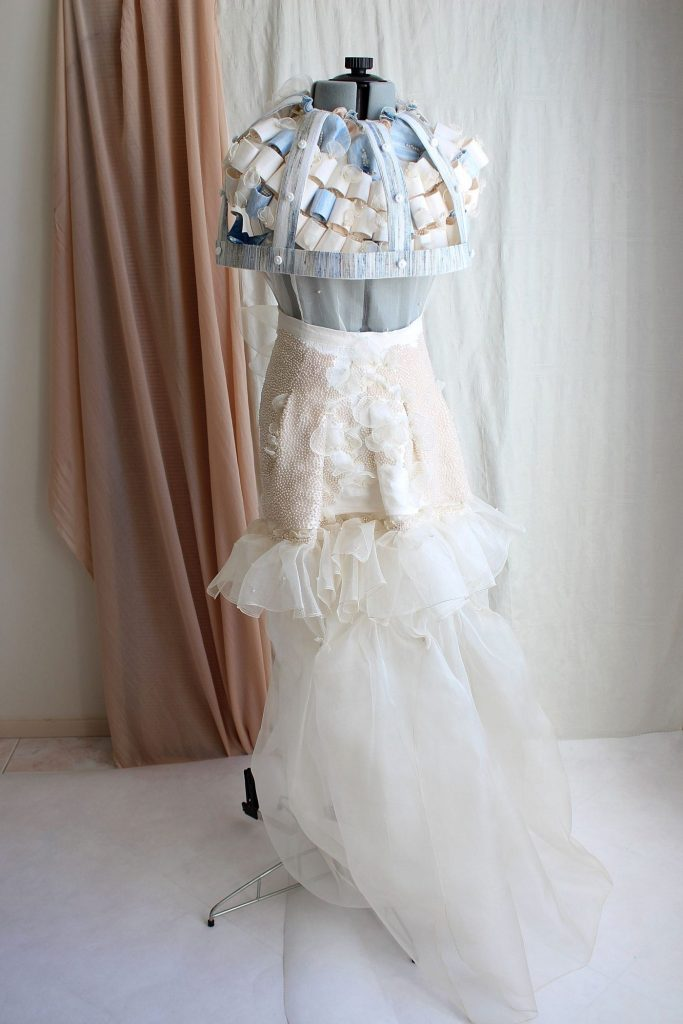 Textile Art Birdcage Couture Gown Made in Australia
