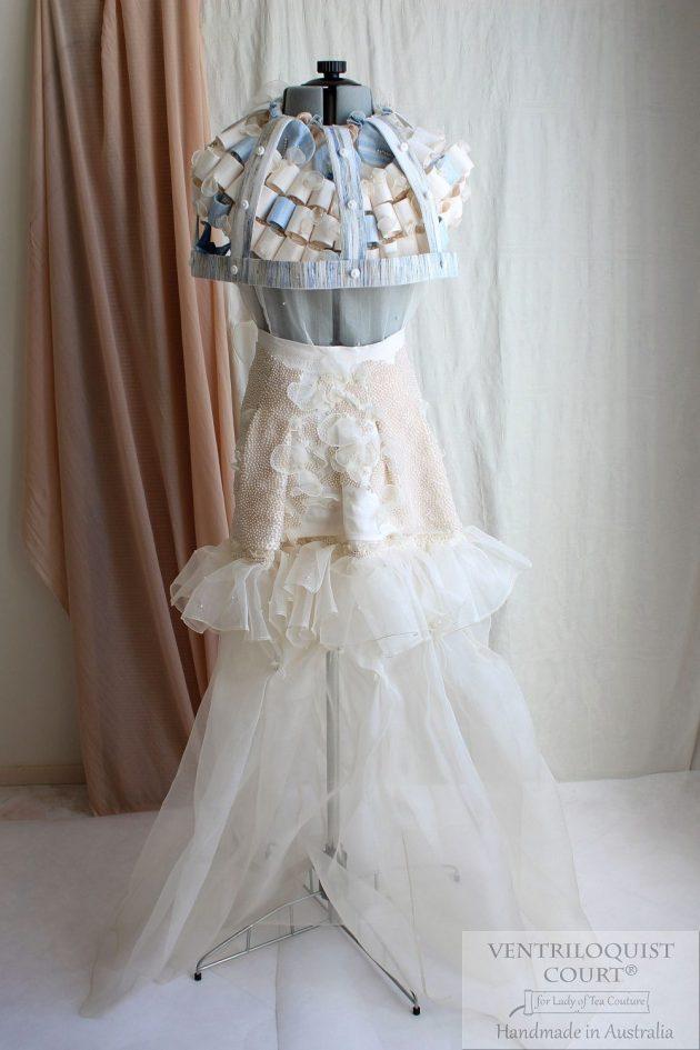 Seaside Textile Art Gown Handmade in Australia