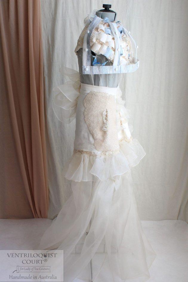 Rustic Avant Garde Dress, Eco Fashion Gown