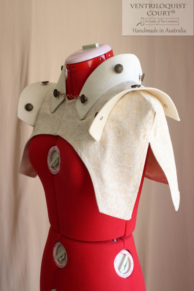 Futurist Steampunk Collar Capelet - Online Steampunk Store Ventriloquist Court®