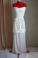 Greek goddess style costume; Romantic lace wedding dress; Sheer dress