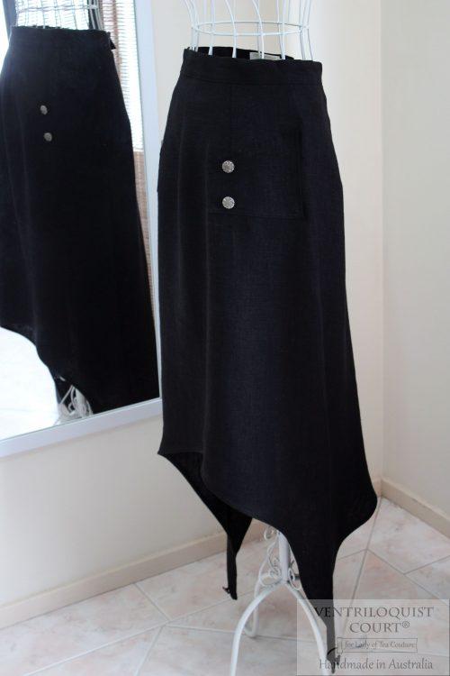 Black Visual Kei Skirt