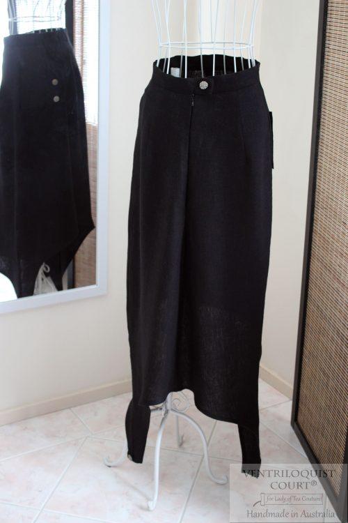 Futuristic skirt made in Australia; Black Linen Skirt