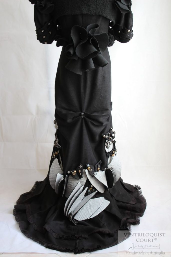 Textile Art Gown Designed & Handmade in Australia - Ventriloquist Court®