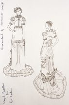 Sketches: Winged Propellers Gown Designed by Ventriloquist Court®