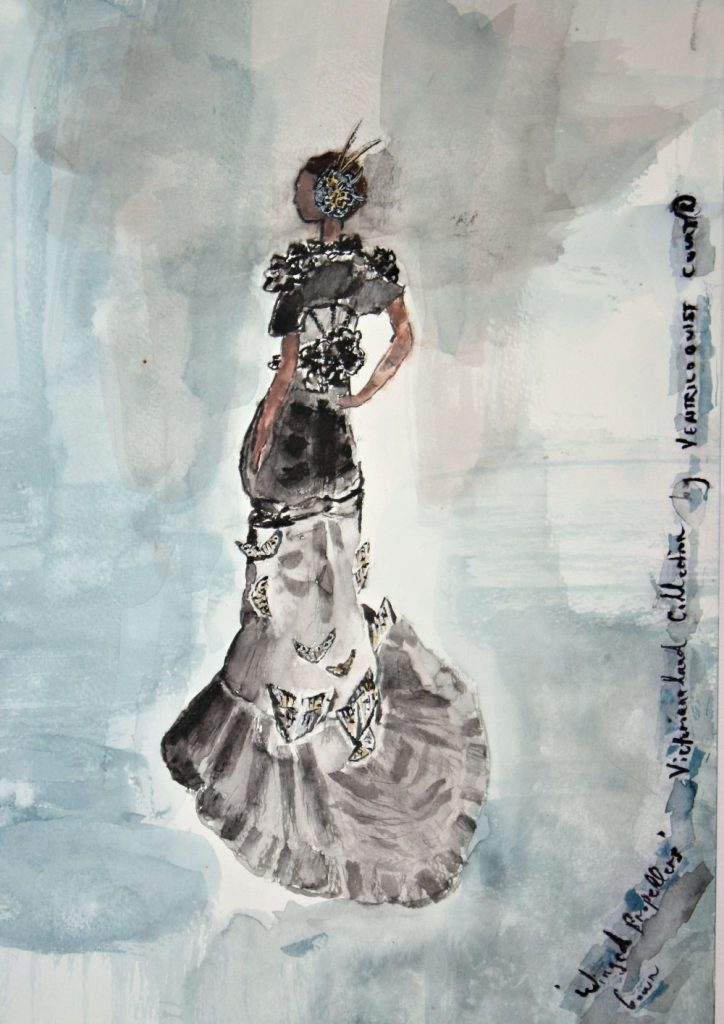 Steampunk Avant-Garde Gown Design by Ventriloquist Court®