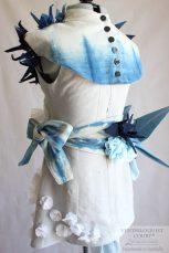 Indigo Cotton & Grey Linen Fashion Art Dress