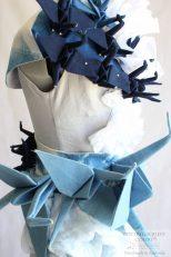 Indigo Cotton Textile Art Dress