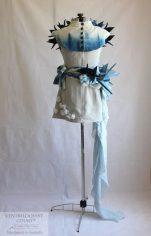 Indigo Cotton & Linen Art Dress Handmade in Australia