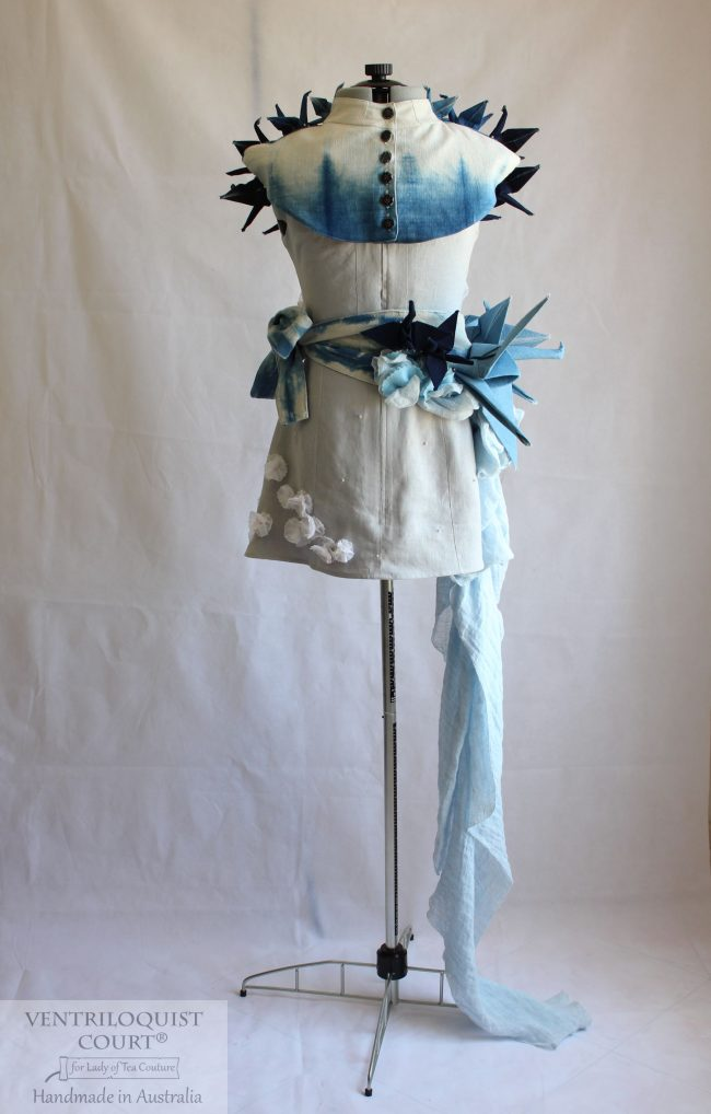Indigo Cotton & Linen Art Dress Handmade in Australia