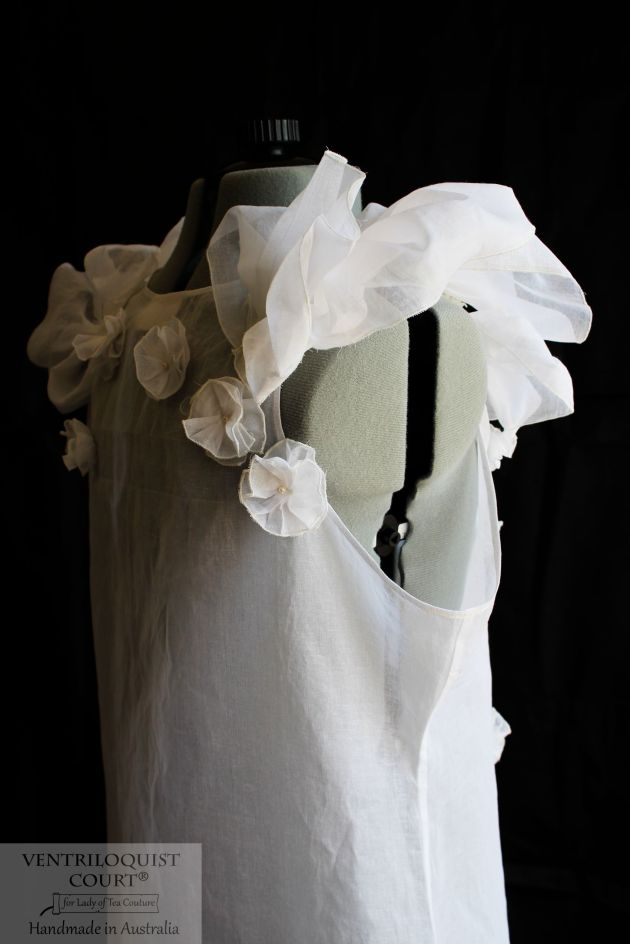 Romantic Dress with Pleats Handmade in Australia