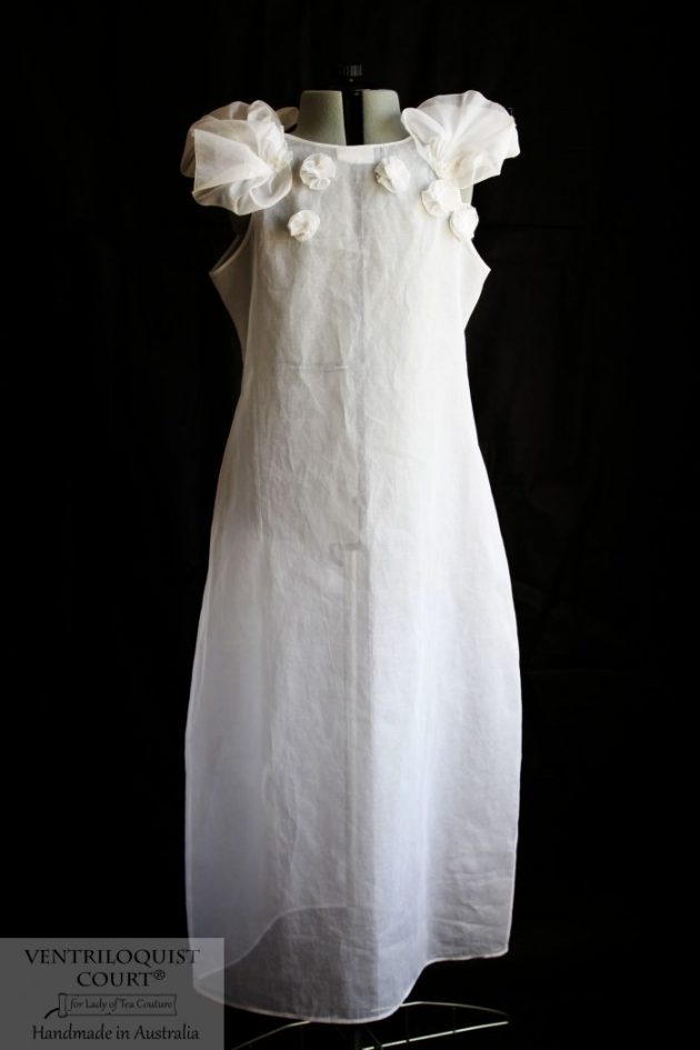 Sheer white cotton dress