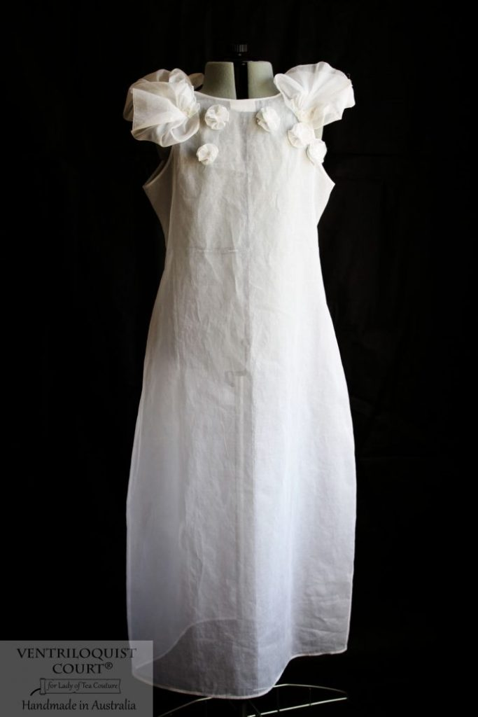 Sheer white cotton dress