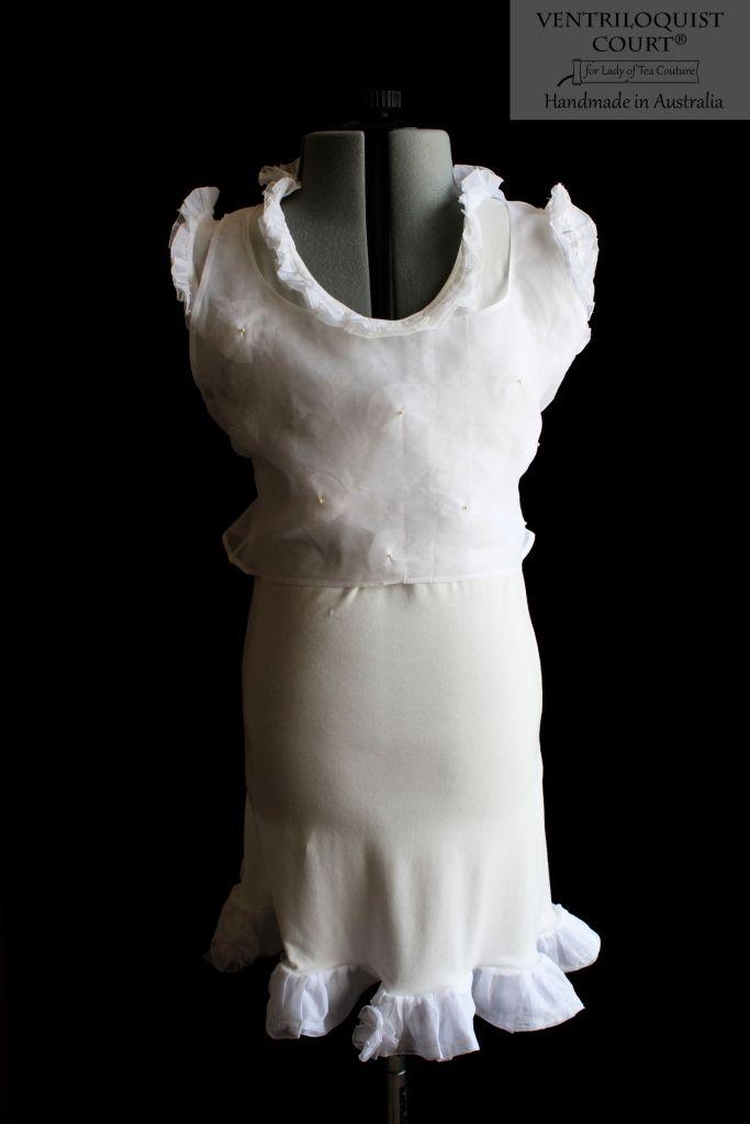 White & cream boho dress