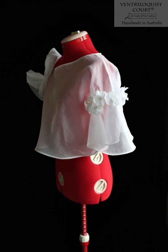 Romantic Sheer White Cotton Tailor-Made in Australia