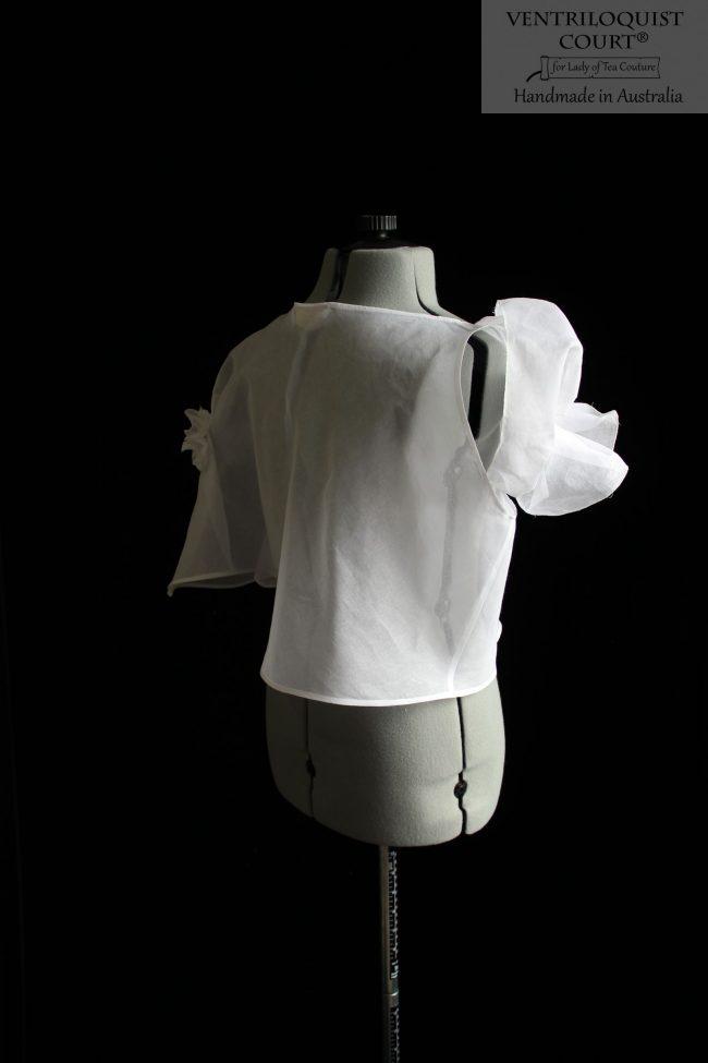 Sheer white cotton top