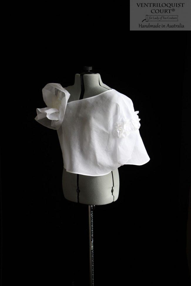 Sheer White Asymmetrical Top