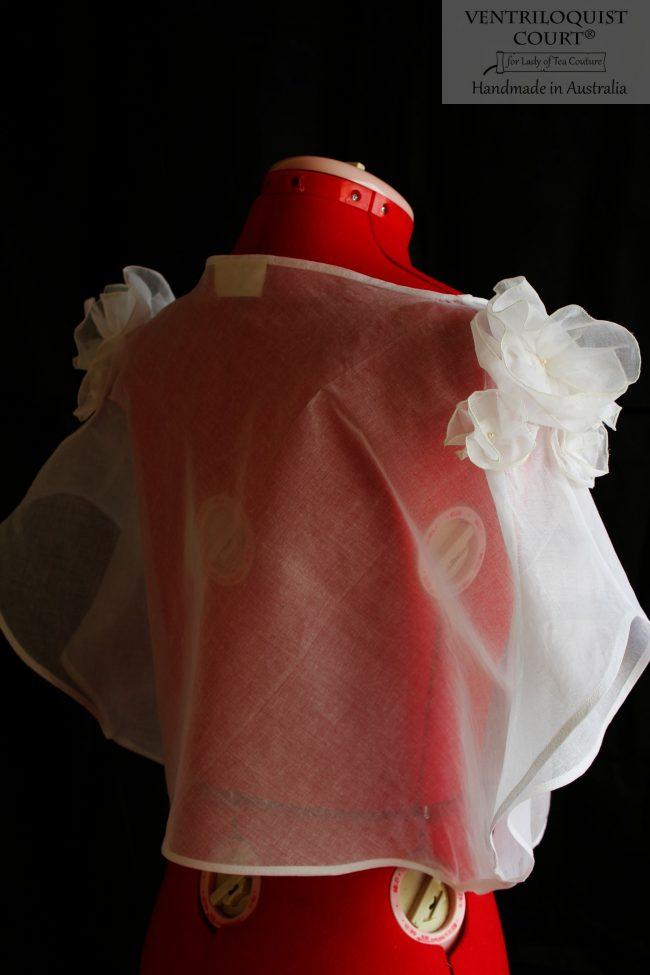 Sheer White Cotton Boho Batwing Blouse - Online Boutique Store Ventriloquist Court®