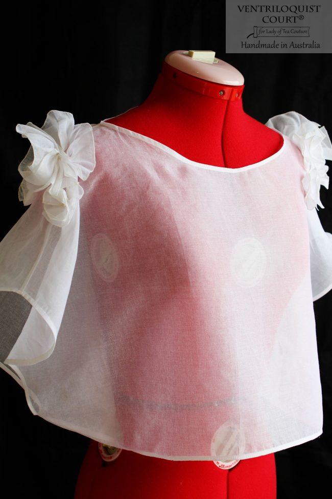 Romantic Sheer White Cotton Blouse Handmade in Australia