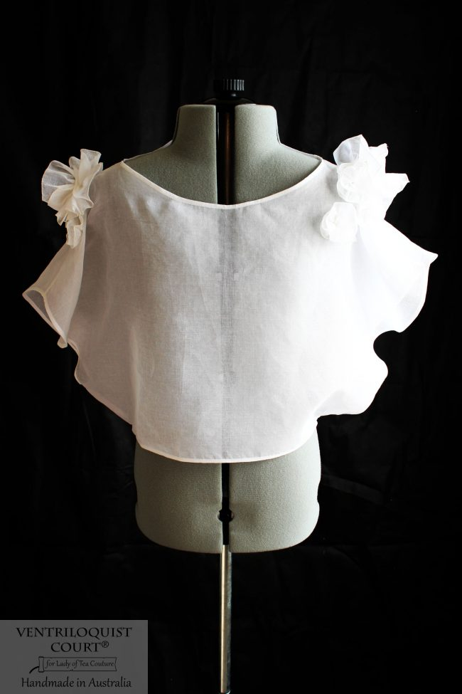 Made-to-Measure Sheer White Cotton Batwing Top