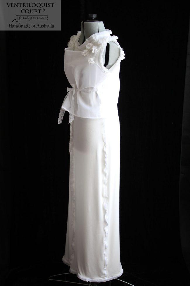 Romantic white dress