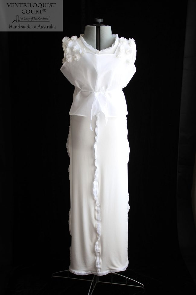Flowly White & Cream Dress by Ventriloquist Court®